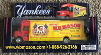 NEW NY YANKEES  W.B. WB MASON COLLECTIBLE DELIVERY SUPPLY TRUCK SHIPS FREE