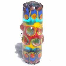 BIZARRO Handmade Art Glass Focal Bead Flaming Fools Lampwork Art Glass SRA
