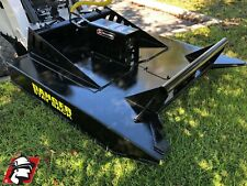 """Skid Steer Brush Mower Attachment 72"""" Universal Fit for Bobcat Machines"""