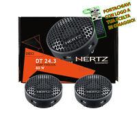 Hertz DT 24.3 Coppia Altoparlanti da 24 mm 80 W Tweeter + Crossover + Supporti
