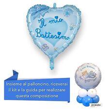 CENTROTAVOLA BATTESIMO BIMBO Palloncino Cuore Celeste Addobbi Feste ed eventi