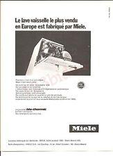 Lave-Vaisselle Miele Bio-Thermic Advertising Publicité AD Vintage Années 70'