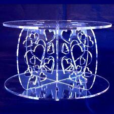 Heart Design Round Cake Separator - Clear