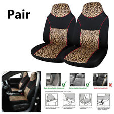 2PCS Leopard Color Polyester Car SUV Front Seat Cover Protector Cushion 150*65CM