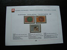 SUISSE - document 1981 timbre yt n° 1132 a 1134 n** (cy34) switzerland
