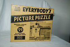 Vintage 1930's Wilkie's Picture PuzzleA BULL'S EYE Jigsaw 500 Pieces