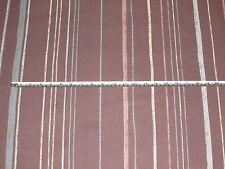 'Celtic Stripe' Cocoa Brown John Lewis UK 100% Cotton Furnishing Fabric 2.3 mts
