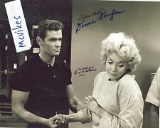 "Edson Stroll & Donna Douglas ""The Twilight Zone"" Autographed 8x10 Photo COA RARE"