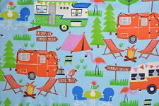 Camping Flannelette Fabric 108cm Wide (per metre)