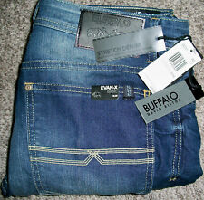 BUFFALO DAVID BITTON EVAN X Slim Straight Wash Blue Denim  Jeans NWT 34x32 $109