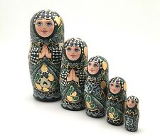 Russian Angel Princess Nesting Doll set Hand Painted Signed by artist ArtWork