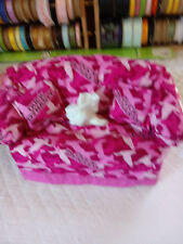 DUCK DYNASTY  TISSUE BOX COVER HANDMADE PINK CAMO