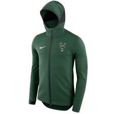 MILWAUKEE BUCKS Showtime Hoodie Nike NBA Dri-FIT Full-Zip Jacket Mens S SMALL
