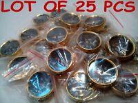 LOT OF 25 PCS NAUTICAL MARITIME BRASS POCKET COMPASS KEY CHAIN handmade style