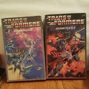 2 Trans-Formers APC Vintage 1985 Jigsaw Puzzle ~ 125 piece Complete Starscream