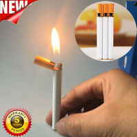 New Windproof Jet Flame Cigarette Shaped Refillable Butane Gas Cigar Lighter
