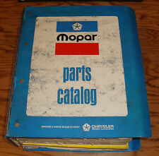 Original 1979 Plymouth Dodge Chrysler Mopar Car Parts List Catalog Manual 79