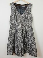 [ JACQUI E ] Womens Floral Fit & Flare Dress  | Size AU 16 or US 12