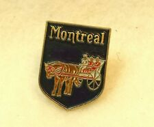 "Montreal Canada Lapel Pin Blue Horse Carriage .75"" Tall"