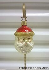Old World Christmas Red Hat Santa Ornament Enga-Glas Collection