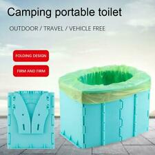 Tragbare Reise Toilette Klappkommode Toilettensitz für Camping Wandern New