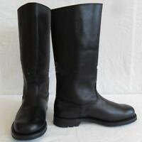 Fashion Military Mens German Leather Combat Officer Boot Riding Black Boots Size