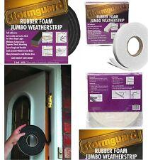 Jumbo Foam Draught Excluder Weather Seal Strip Insulation Door Window Thick Tape