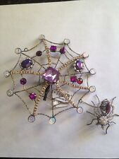 Katherine's Collection Jewelled Spider Web Ornament/Hair clip Style 2-retired