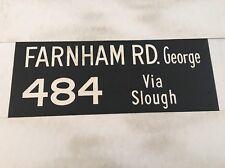 """Windsor Vintage Linen Bus Blind 36"""" Farnham Road George 484 Via Slough"""
