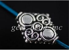 20pcs Charms Tibetan Silver Crafts Jewelry Making Spacer Rondelle Beads 15mm
