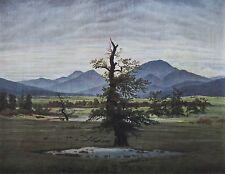 Caspar David Friedrich DER EINSAME BAUM Reproduktion deutscher Maler art print