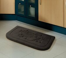 Brown Fruit Memory Foam Anti Fatigue Kitchen Floor Mat Rug Victoria Classics