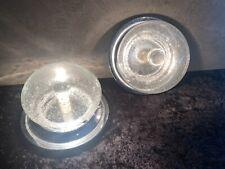 2x UFO Wandlampe Deckenlampe Chrom Space Age Lampe Paar 70er Jahre Design