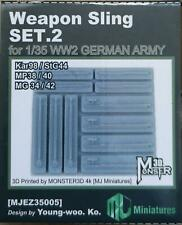 MJ Miniatures EZ35005 Weapon Sling Set 2 for German Army WWII   1:35
