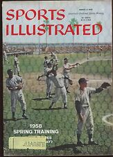 March 3 1958 Sports Illustrated Magazine New York Yankees Spring Training VGEX