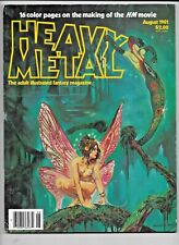 Heavy Metal Vol 5 #5 August 1981 HM Movie Newsstand Low Grade VG+ 1977 Series