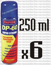 6 X DP60 MAINTENANCE SPRAY PENETRATING RELEASING CLEANING CAR 250ML