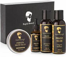 Beard Grooming Kit Men Care Styling Shaping Growth Mustache Set Unscented Balm