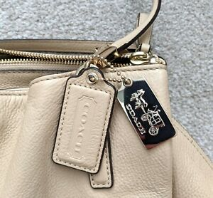 COACH Madison Café Carryall cream leather shoulder bag-K1380-27859 unused