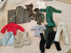 "Large lot of Misc. Vintage 12"" GI JOE 1960s Clothing Jacket Pants Gear"