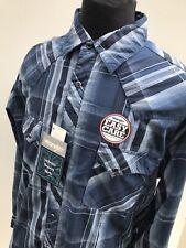 WRANGLER Rockabilly SOUTHWESTERN Easy Care BLUE Plaid PEARL Snap Shirt XL
