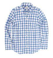 J.Crew Factory Womens XL - NWT - Blue Windowpane Plaid Light-Wt. Flannel Shirt