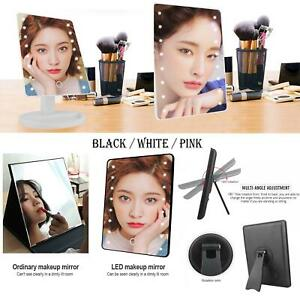 16 LED 5X MAGNIFYING TOUCH SCREEN LIGHT MAKE-UP COSMETIC TABLETOP VANITY MIRROR