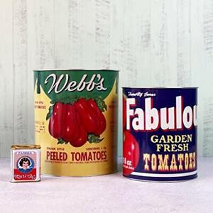 Giant Peeled Tomatoes Storage Tins Set of 2