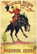 Wickenburg, Arizona Gold Rush Days -  VINTAGE-  RODEO POSTER