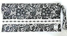 Black Lace Cross Stitch & Craft 100% Cotton Project Bag New! {EugeniaM Designs}