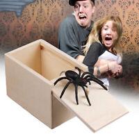 Wooden Prank Spider,Scorpion,Bug Scare Box - Surprise Joke Horror Toys Halloween