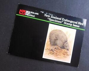 EDW1949SELL : NEW ZEALAND 6 values Bird ovpt SPECIMEN in Special folder VFMNH