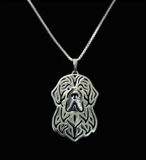 Newfoundland Silver Charm Pendant Necklace, Dog Lover, Friend Gift