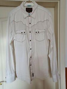 Herren Cowboyhemd, Wrangler Retro, weiss, Gr. XL